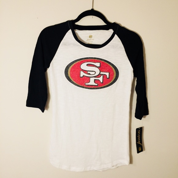 86f8405a9fb NFL Apparel Tops | Juniors San Francisco 49ers Raglan Tee Size M ...
